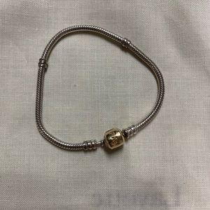 Pandora Bracelet, Two Tone Clasp